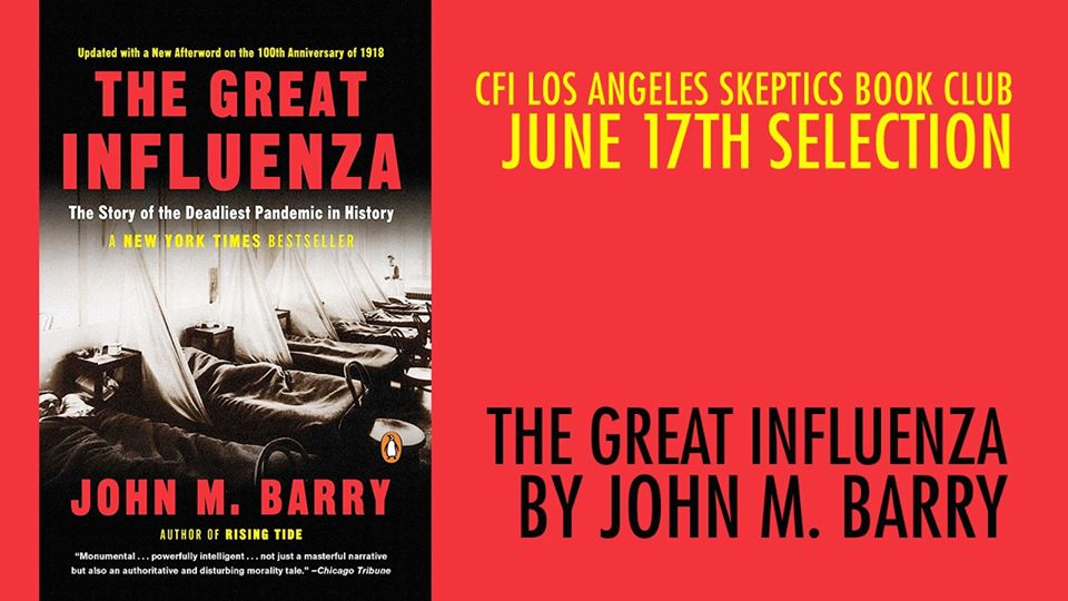 June 17 Book Club: The Great Influenza by John M. Barry